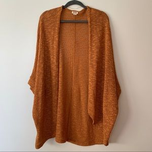 Burnt Orange Open Cardigan